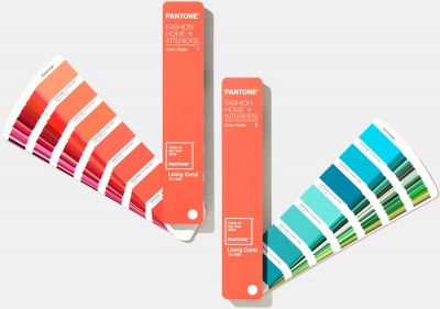 Цветовой справочник Pantone FHI Color Guide Limited Edition 2019 Living Coral